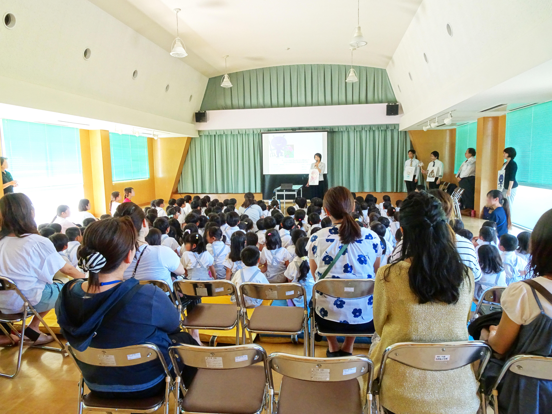 兵庫県の幼稚園にて手洗いの啓発活動を実施しました。